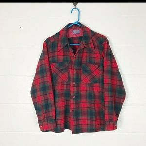 Vintage Pendleton wool shirt men's M ladies l